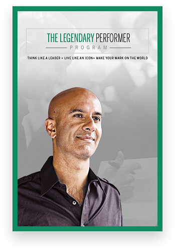 GET The Legendary Performer Program by Robin Sharma for Free