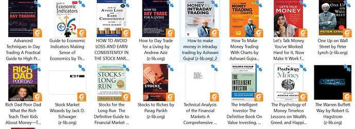 stock market books collections